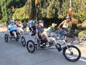 Recumbent bike outing
