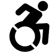 Wheelchair rolling icon