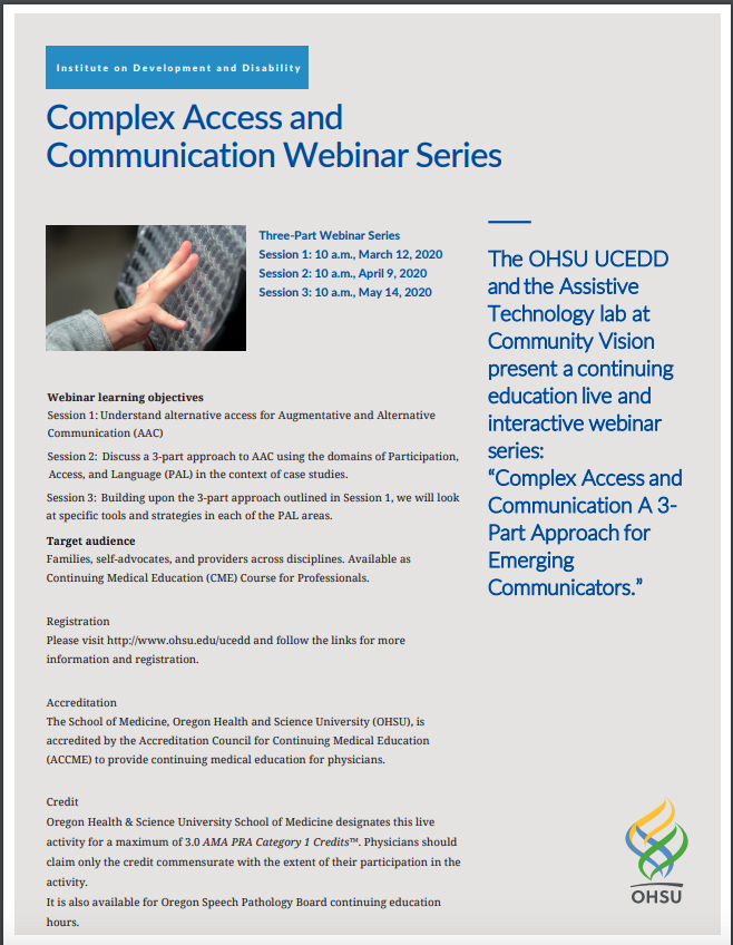 AT Lab + OHSU: AAC Webinar Series